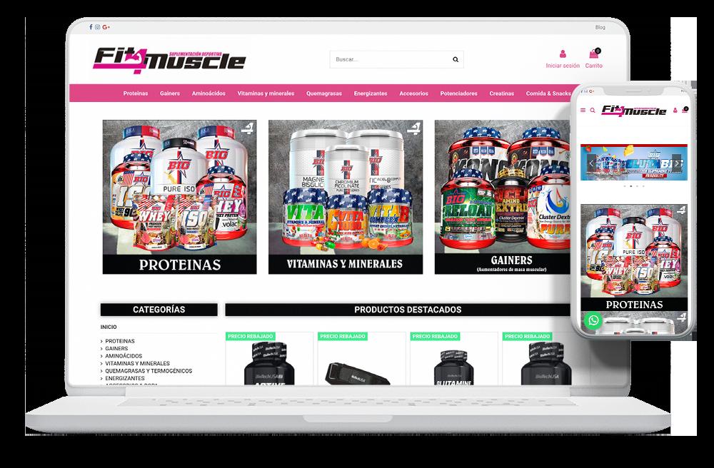 Diseño tienda online nutrición