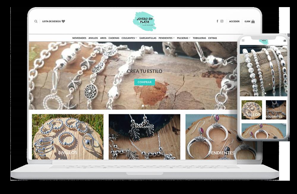 diseño tienda online joyería