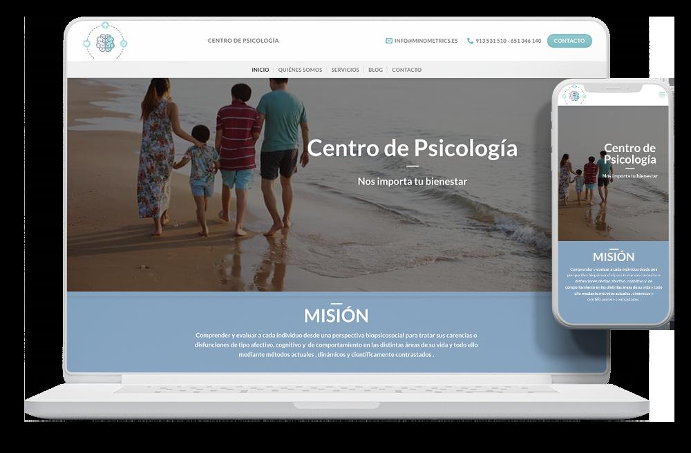 Diseño página web psicologia