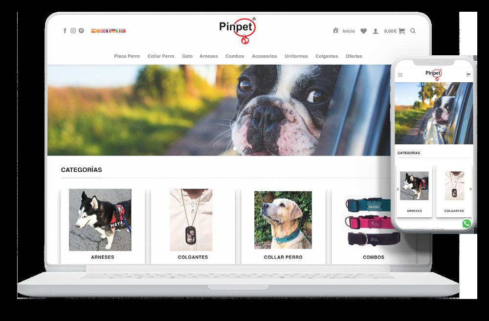 diseño tienda online mascotas